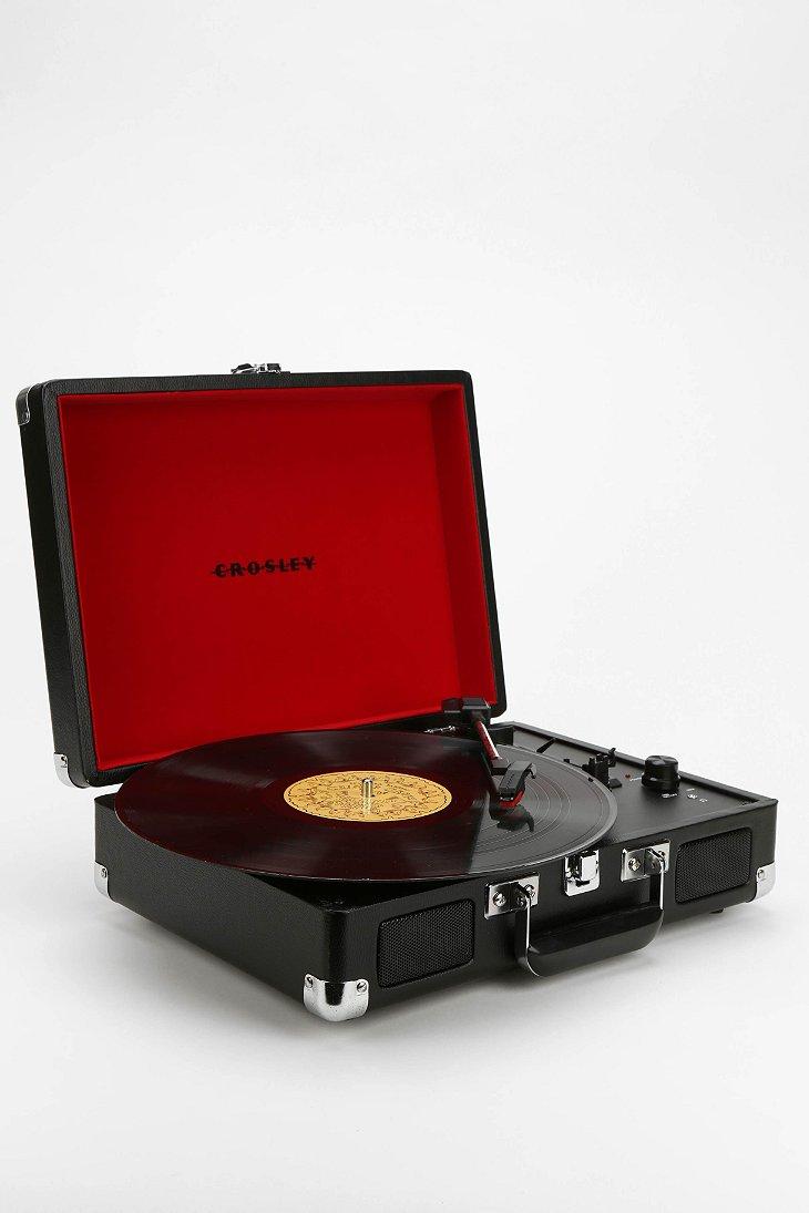 crosley briefcase record player photo - 1