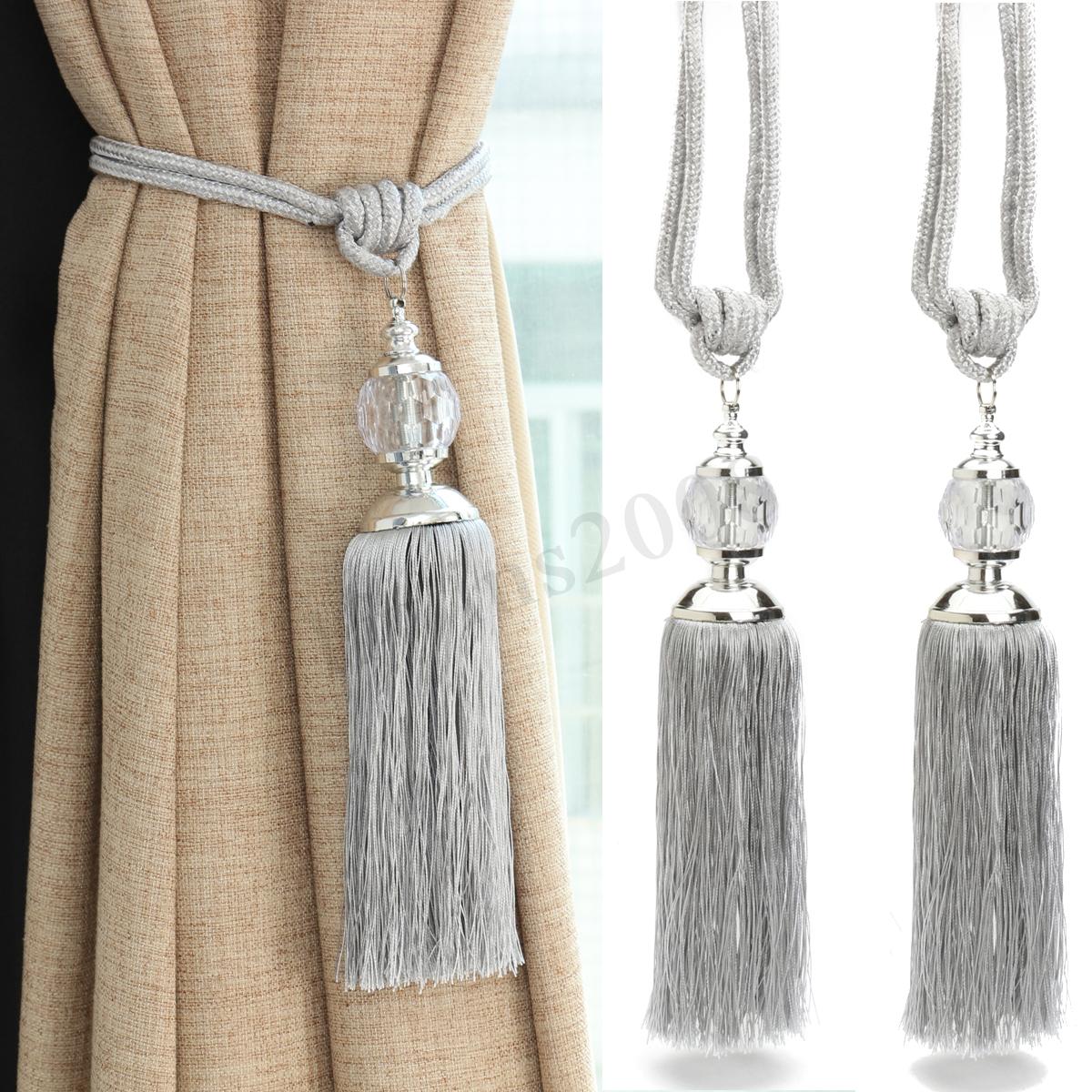 crystal curtain tie backs photo - 1