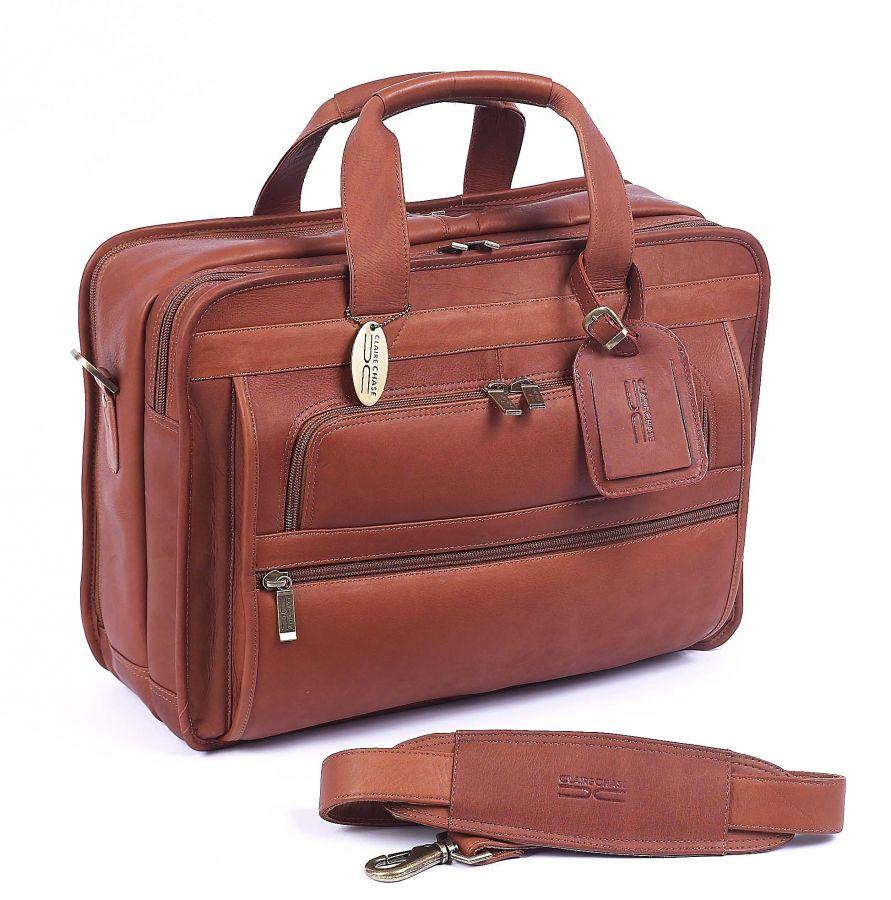 custom leather briefcase photo - 1