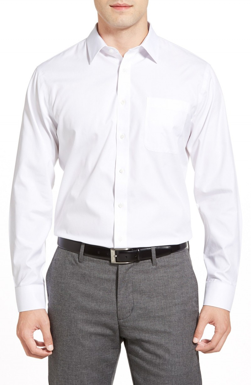 dress shirt without tie photo - 1