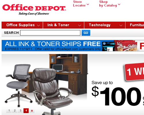 drop down menu on office depot shirt site photo - 1