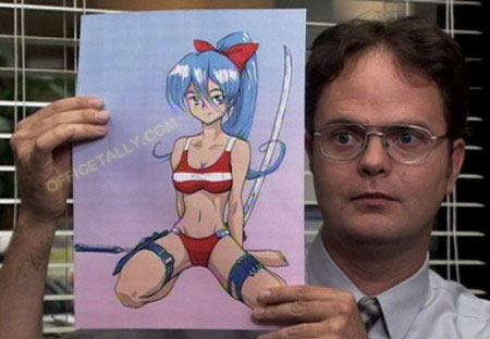 dwight the office anime t shirt photo - 1