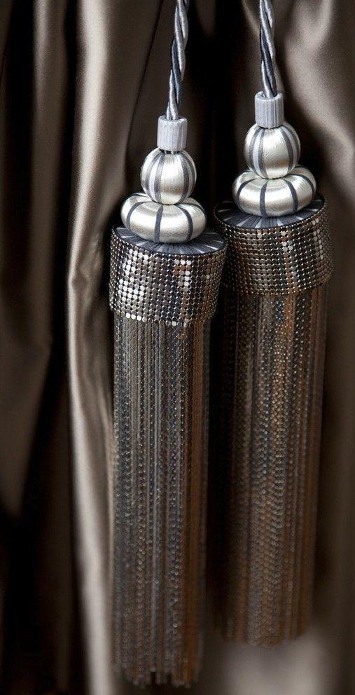 fabric curtain tie backs photo - 1