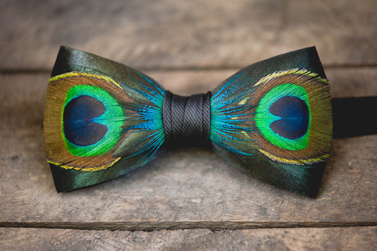 feather bow tie photo - 1