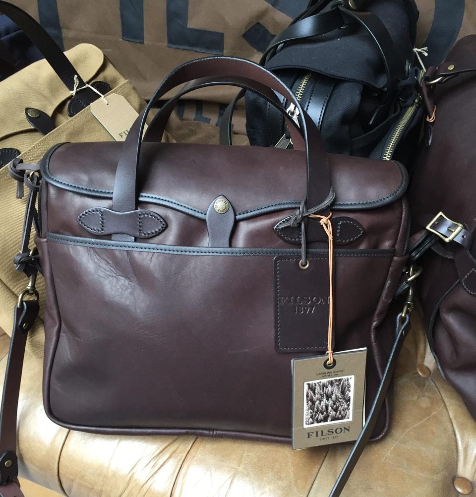 filson leather briefcase photo - 1