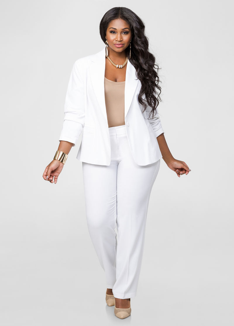 Womens White Dress Pants Suits - Dress Foto and Picture