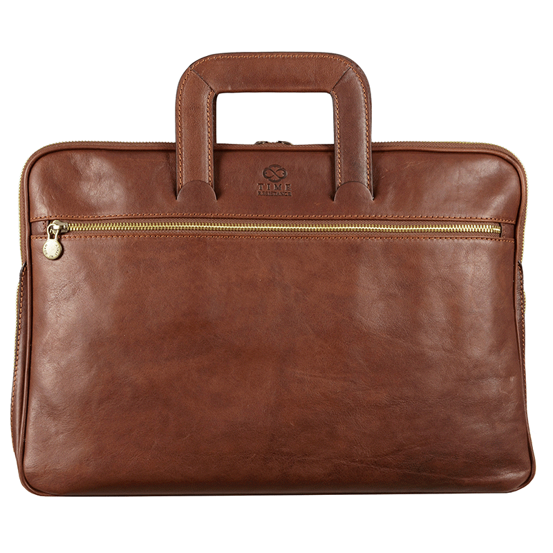 genuine leather briefcase photo - 1
