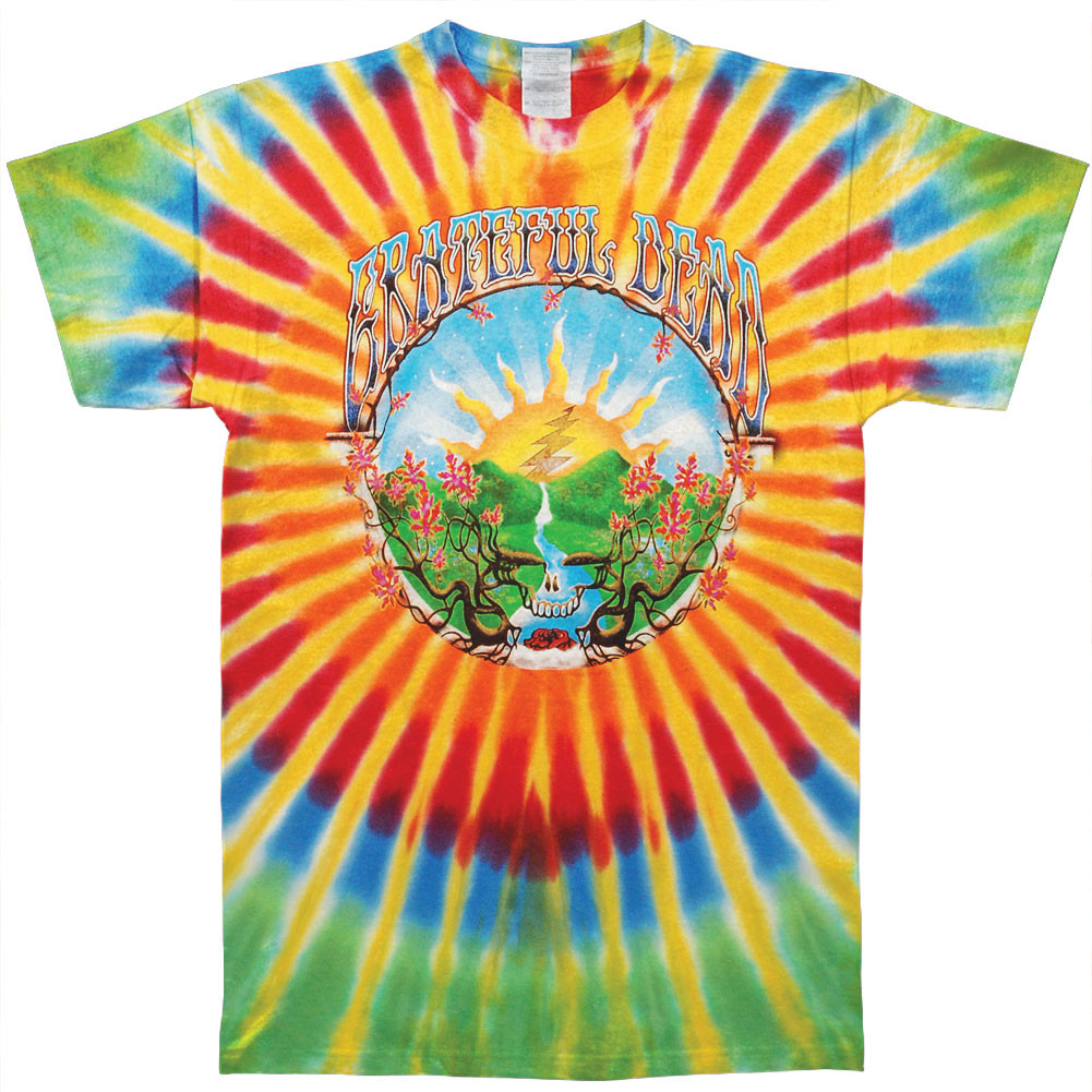 grateful dead tie dye t shirt photo - 1