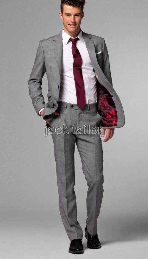 grey men suit photo - 1