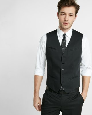 grey pant black sleeveless shirt outlet office photo - 1