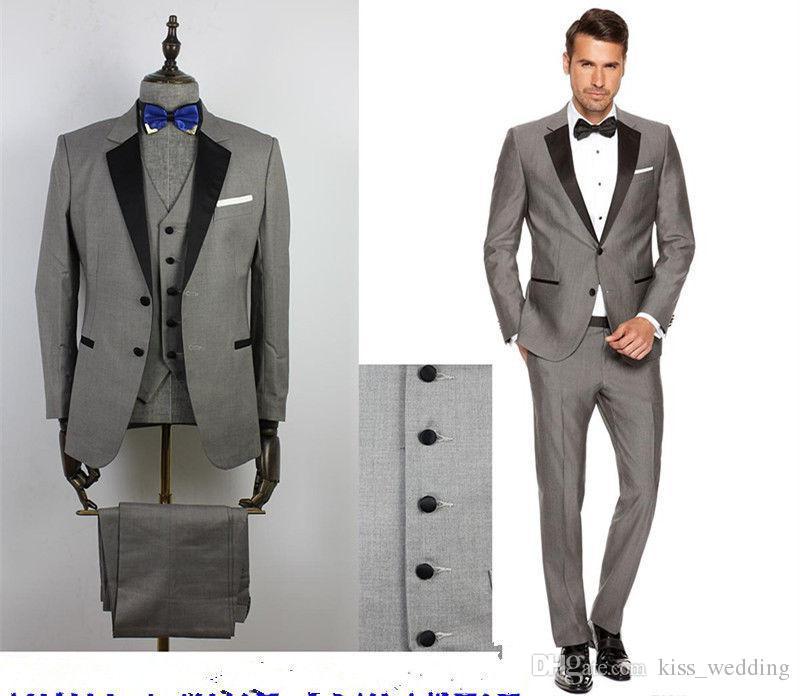 grey suit bow tie photo - 1