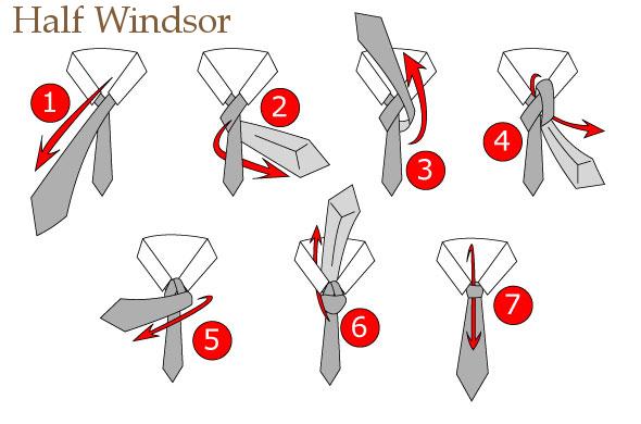 half winsor tie knot photo - 1