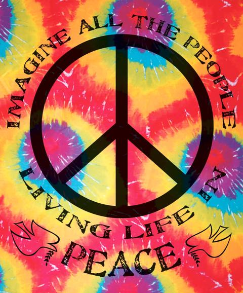 hippies tie dye photo - 1