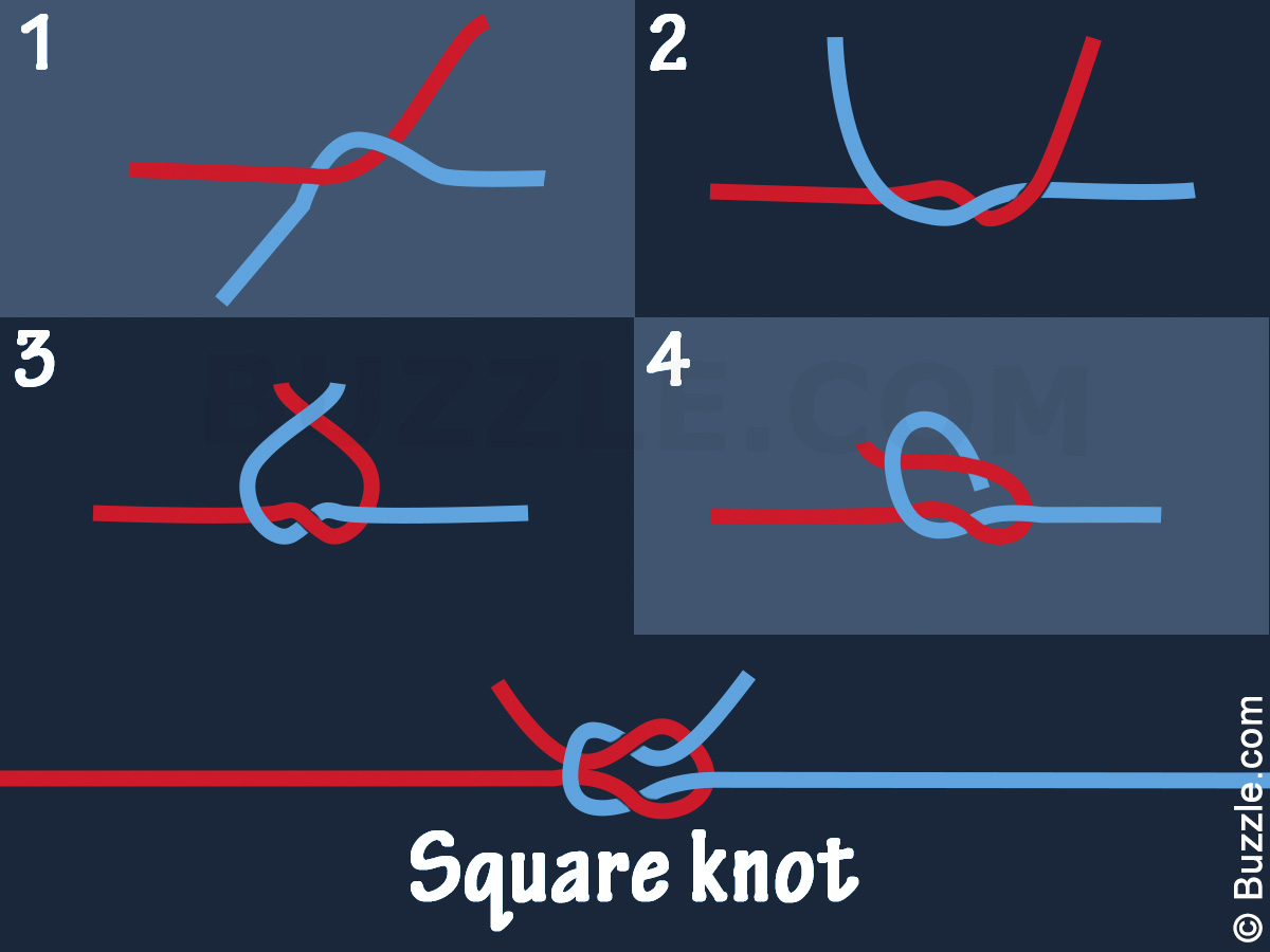 how do you tie a square knot photo - 1