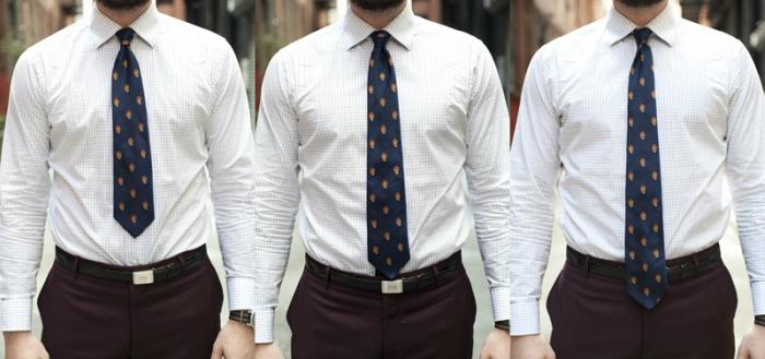 how far down should a tie hang photo - 1