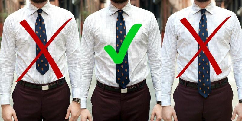 how far should a tie hang photo - 1