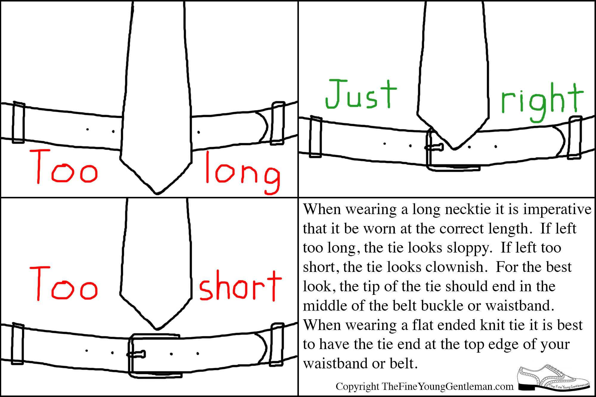 how long should tie be photo - 1