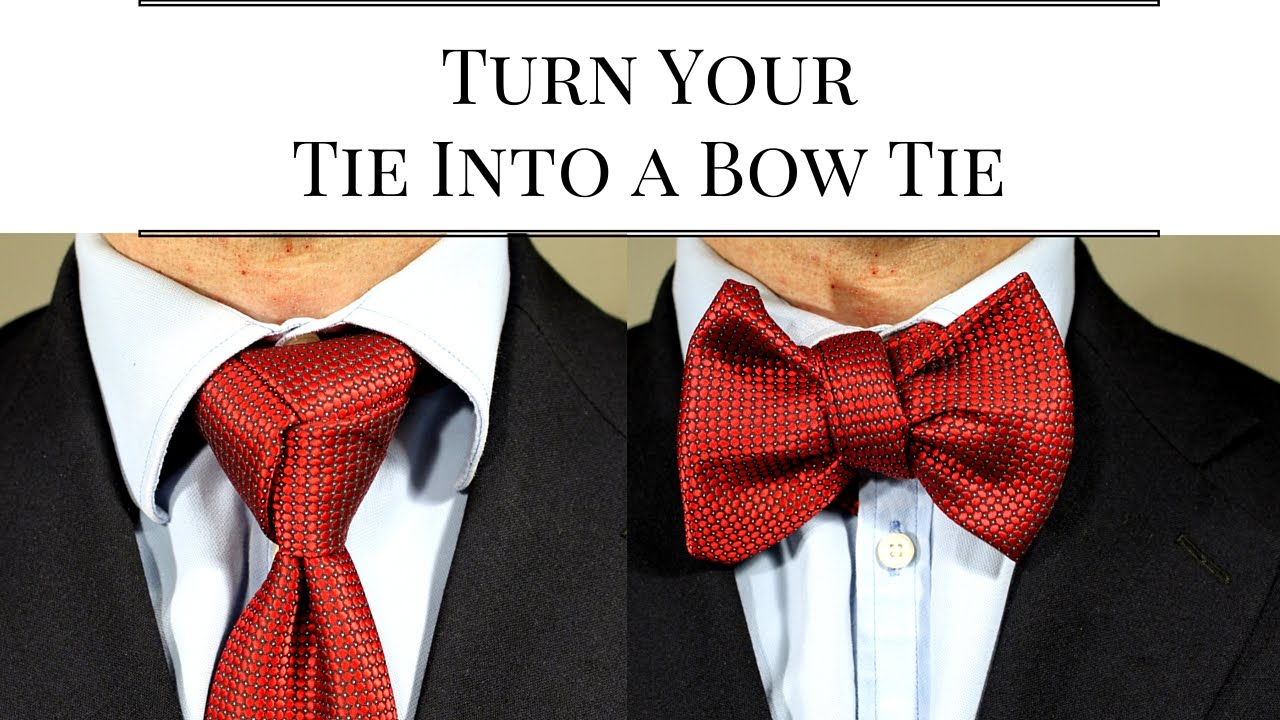 how to turn a tie into a bow tie photo - 1