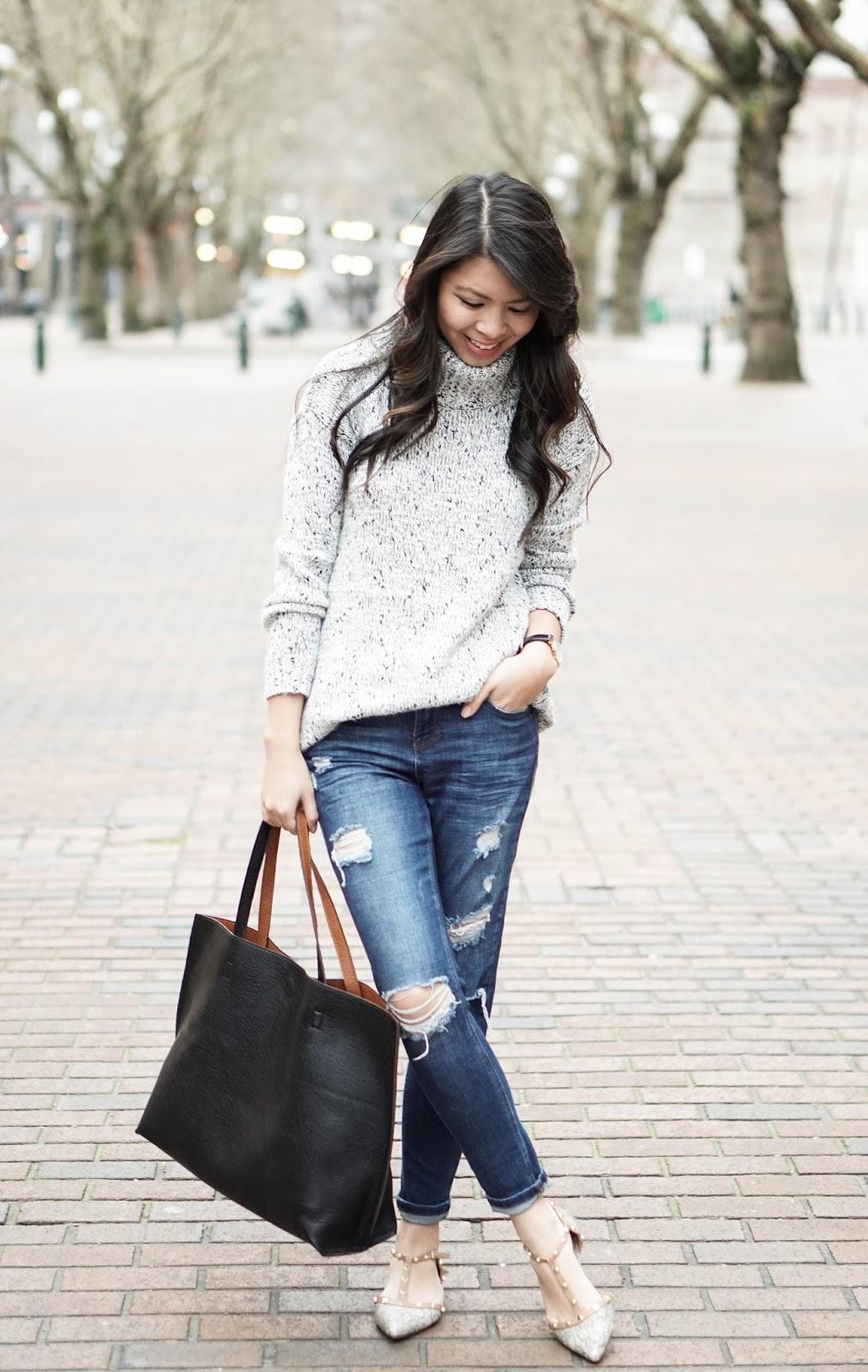 how to wear denim shirt woman office photo - 1