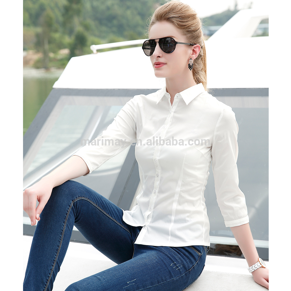 latest office shirt for ladies photo - 1