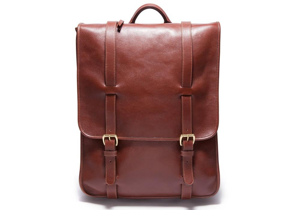 leather briefcase backpack photo - 1