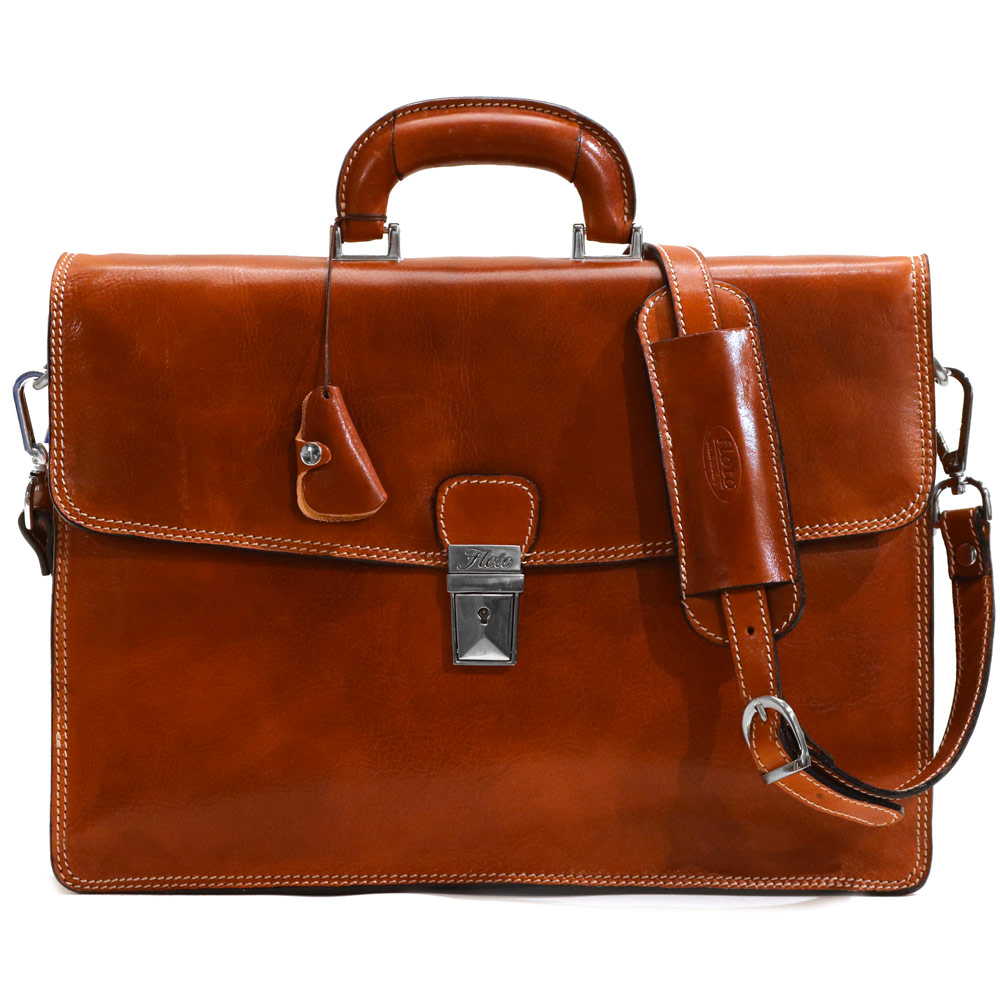 leather briefcase bag photo - 1
