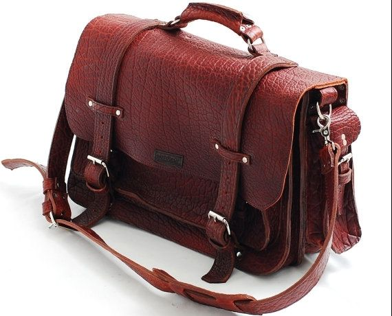 leather briefcase made in usa photo - 1