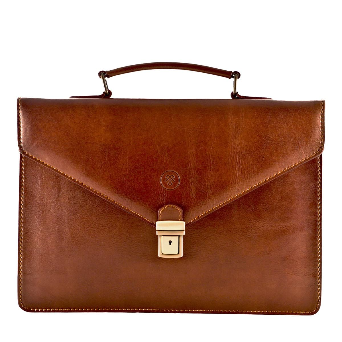 leather briefcase woman photo - 1