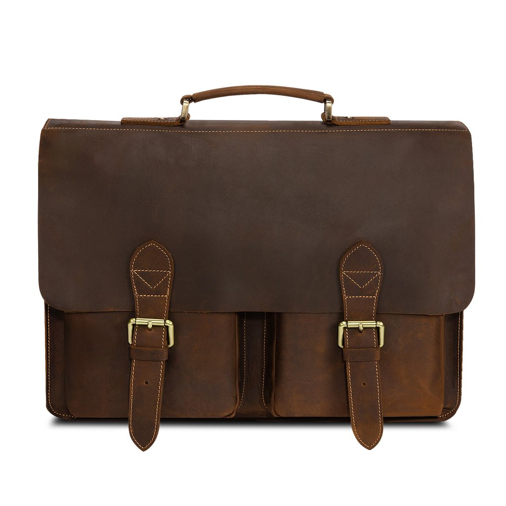 leather briefcase women photo - 1
