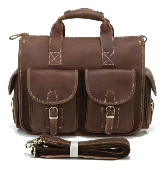 leather computer briefcase photo - 1
