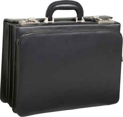 leather rolling briefcase photo - 1