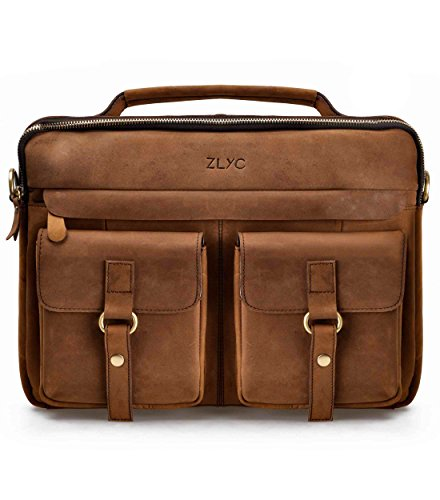 leather satchel briefcase photo - 1