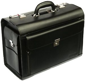 leather wheeled briefcase photo - 1