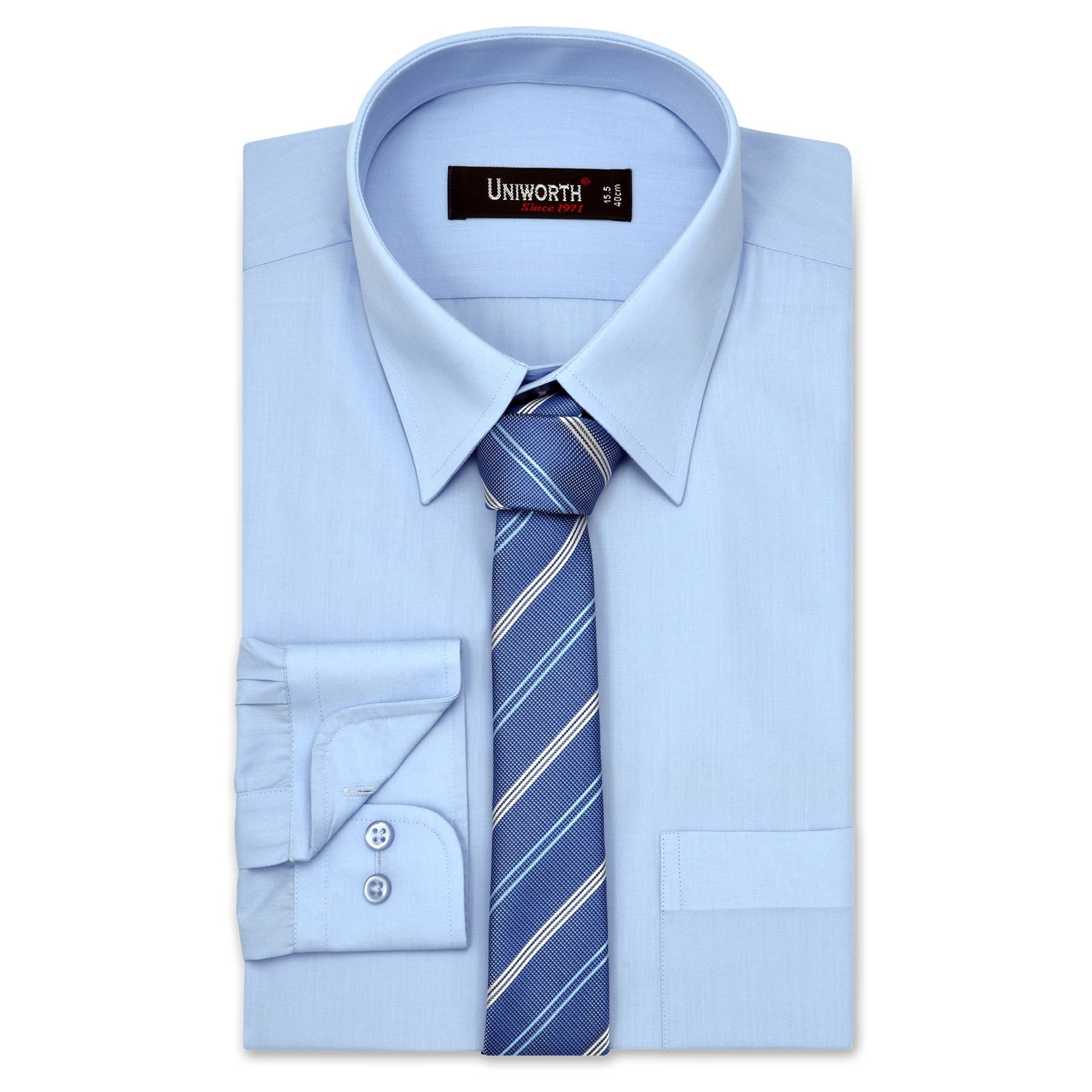 light blue shirt with tie photo - 1