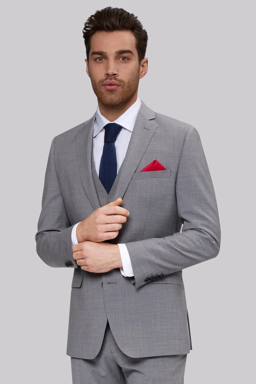 light grey men suit photo - 1