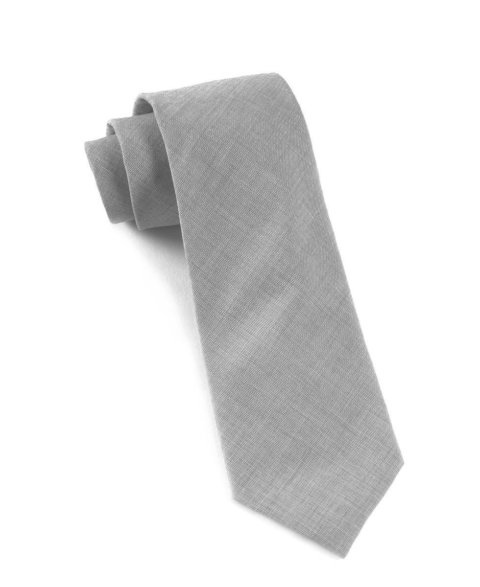 light grey tie photo - 1