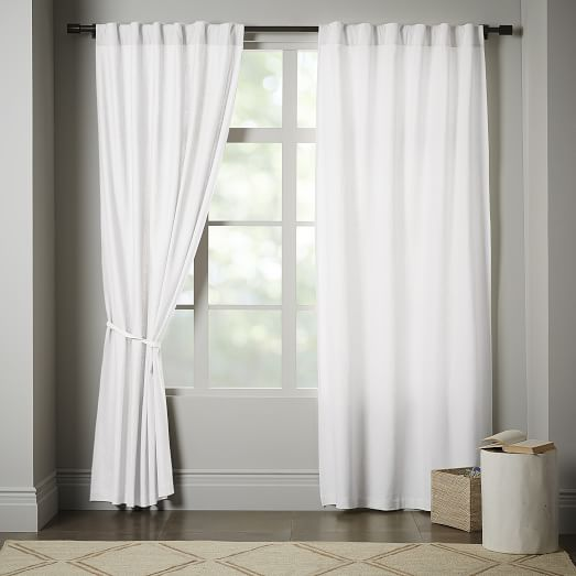 linen tie top curtains photo - 1