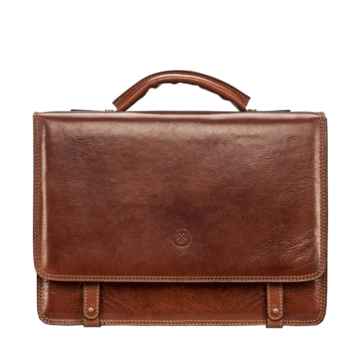 luxury leather briefcase photo - 1