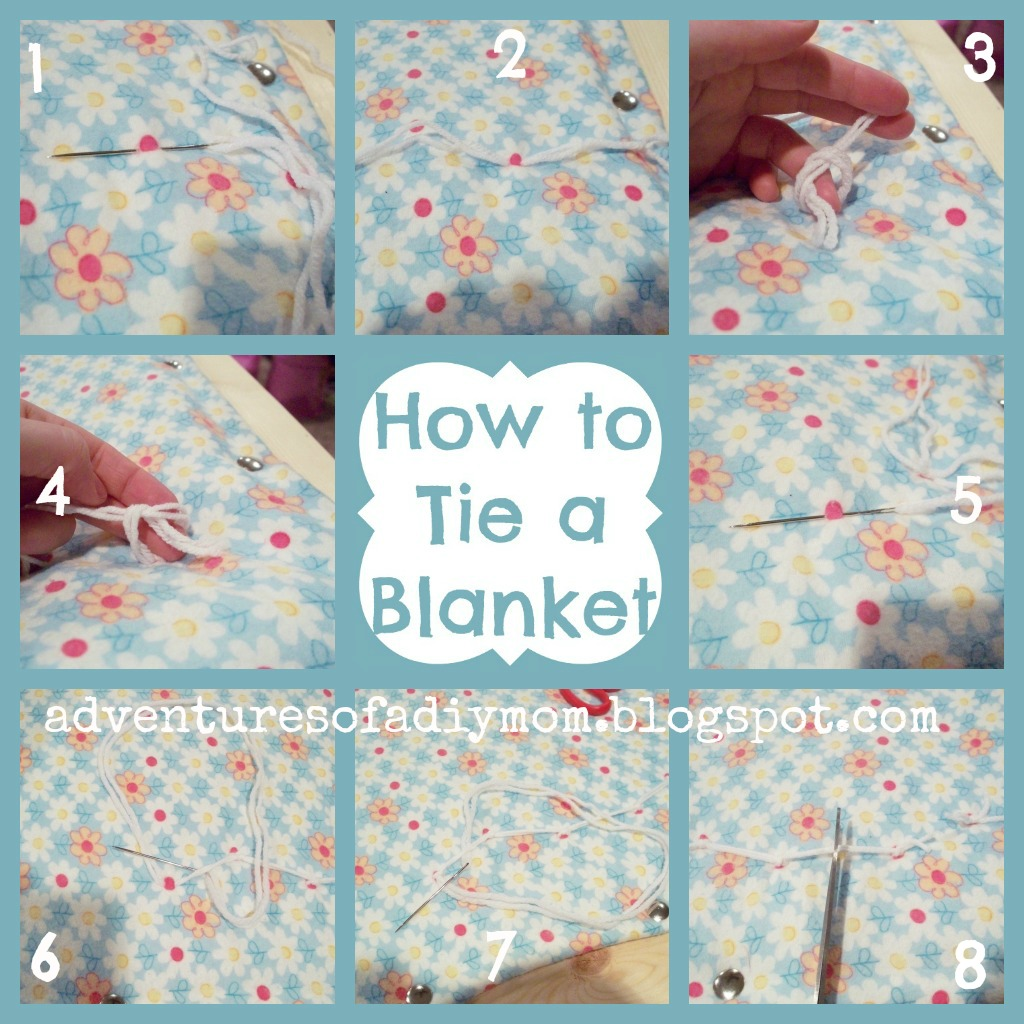 making a tie blanket photo - 1