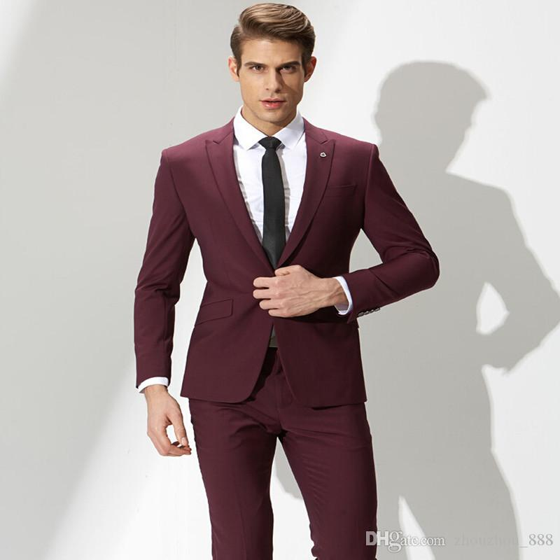 men red suit jacket photo - 1