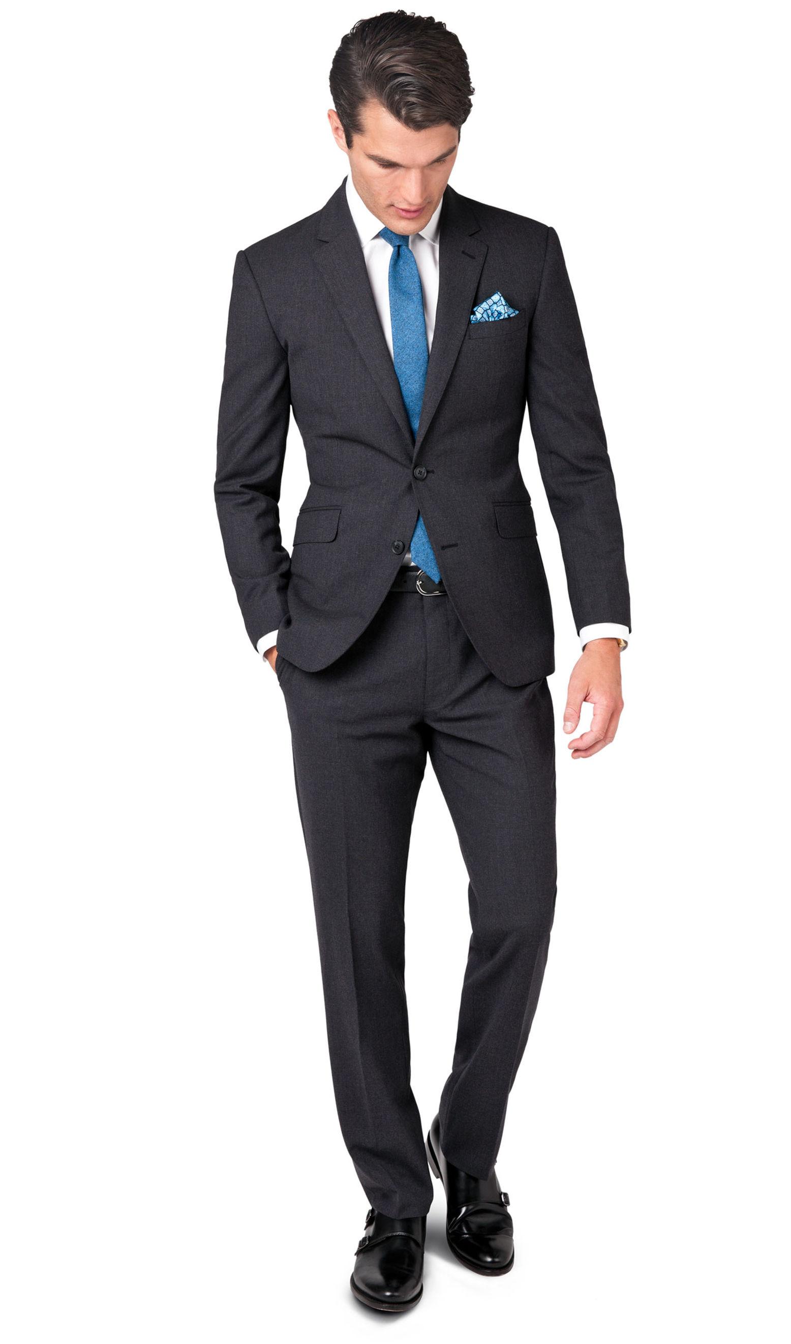men slim fit suit photo - 1