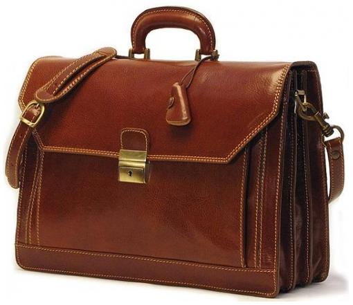 mens briefcase leather photo - 1