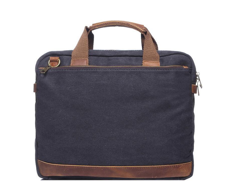 mens canvas briefcase photo - 1