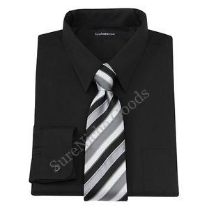mens dress shirt and tie box set photo - 1