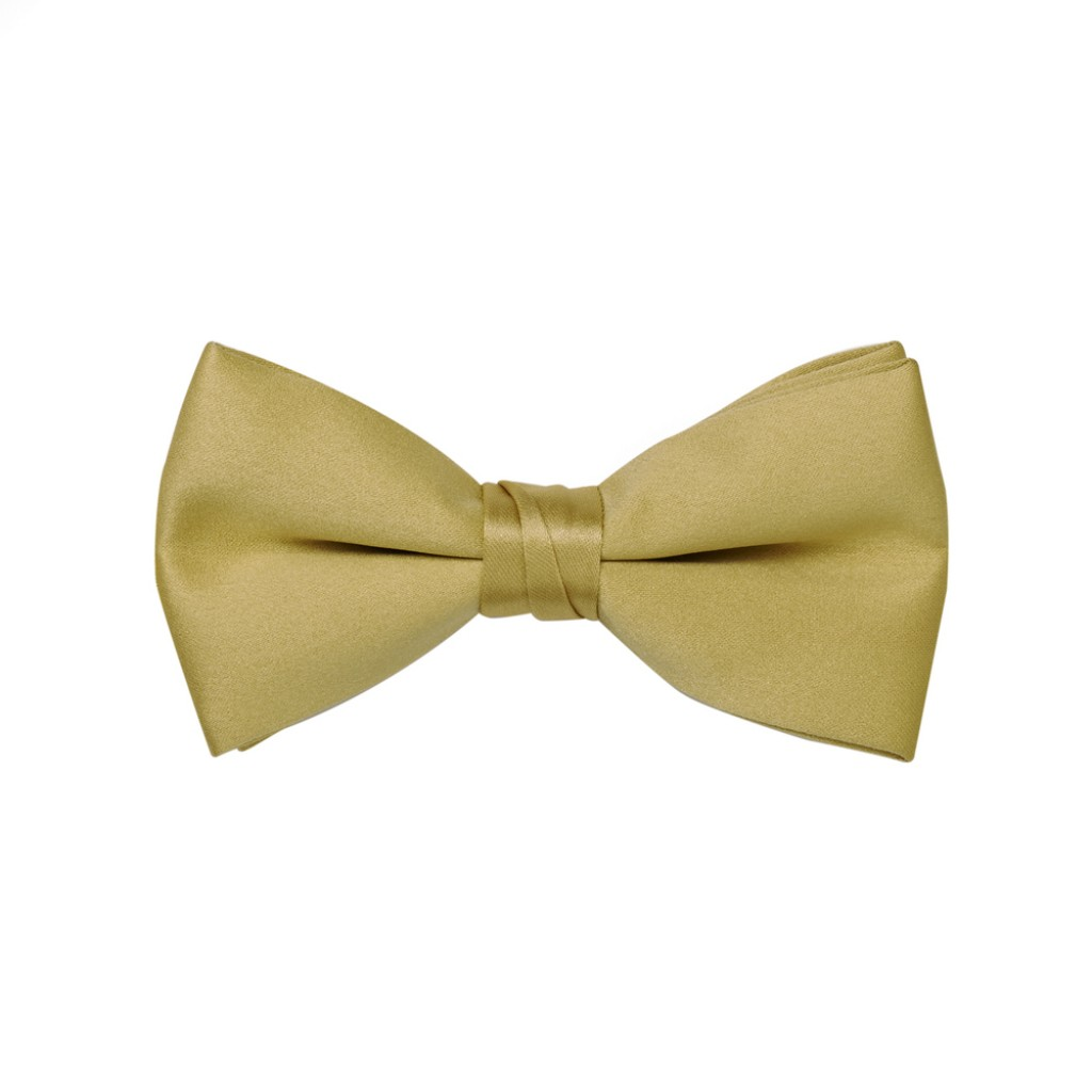 mens gold bow tie photo - 1