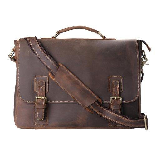 mens leather briefcase amazon photo - 1