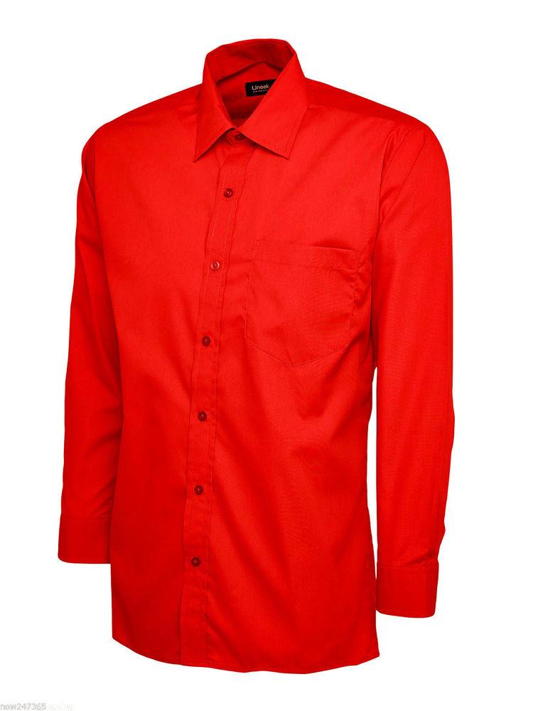 mens plain office shirt formal casual photo - 1