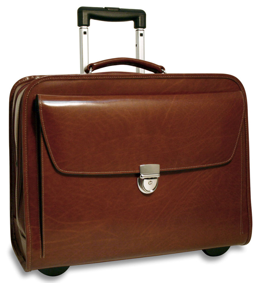 mens rolling briefcase photo - 1