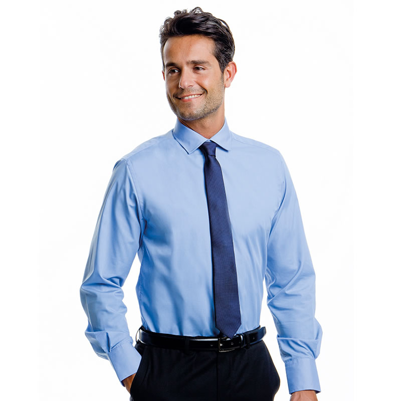mens work clothes office shirt photo - 1
