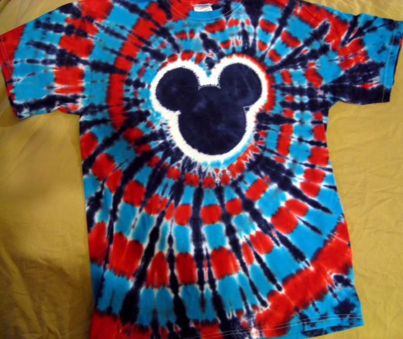 mickey mouse tie dye shirt photo - 1
